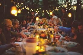 Celebrating Jesus and life together with a circle of friends around a fine meal!